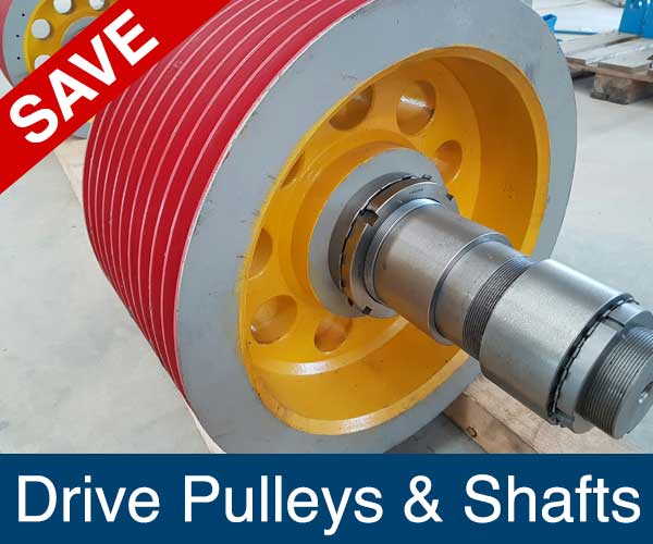 Drive Pulleys and Shafts, Recycling Spare Parts