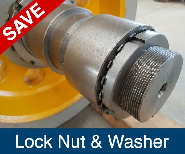 Lock Nut and Lock Washer, Recycling Spare Parts