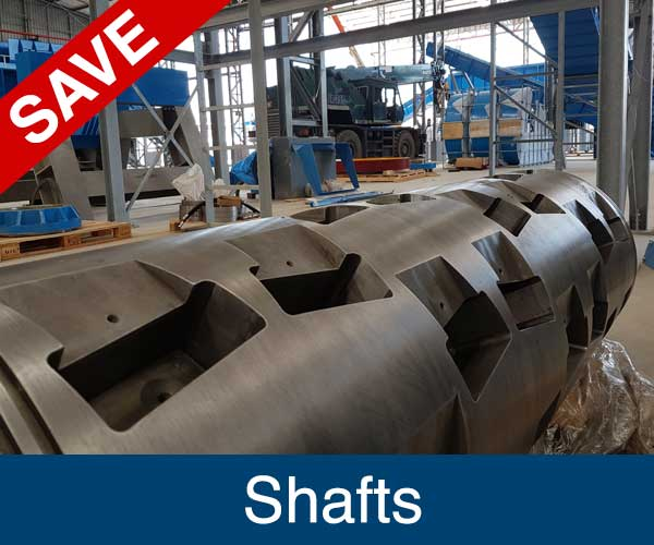 Shafts, Recycling machinery spare parts